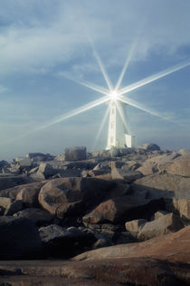 Peggy's Cove Lighthouse, Sunburst by Wolfgang Kaehler