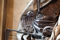 Grim Reaper Detail of a Burial Monument in Saint-Sulpice Church in Paris by Joel Morin