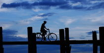 bike at the sunset by emanuele molinari