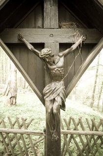 Jesus im Wald I by Thomas Schaefer