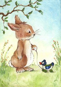 Hase und Ente von Katja Kiefer