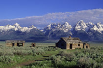 Grand Teton Mountains with Homestead by Wolfgang Kaehler