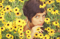 Portrait in Flowers by Vladimir Zotov
