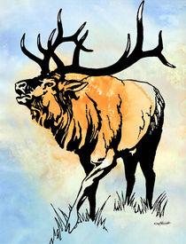 Bull Elk in the Roar von Patricia Howitt