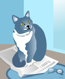 Jack Cat Reads the News by Patricia Howitt