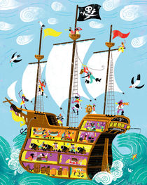 Pirates galleon by Migy Ornia-BLanco