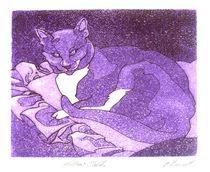 Jack Cat - Pillow Talk by Patricia Howitt