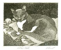 Jack Cat - Pillow Talk 2 by Patricia Howitt