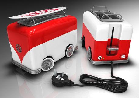 vw toaster camper van digital art art prints and posters. Black Bedroom Furniture Sets. Home Design Ideas