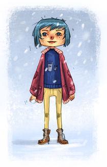Winter Girl by Tautvydas Kazlaukas