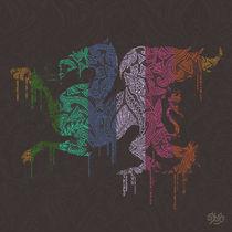 Lion Batik von Deyaz artwork
