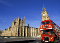 London. Big Ben and Double Decker Bus. von Alan Copson