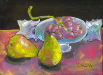 still life with pears and grapes by Elena Malec