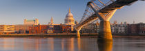 London, St. Paul's Cathedral and Millennium Bridge by Alan Copson
