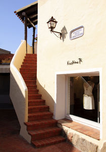 Porto Cervo Boutique and Stairs by Julian Raphael Prante