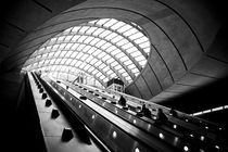 London, Canary Wharf Underground Station, Jubilee Line by Alan Copson