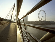 London, London Eye and Hungerford Bridge by Alan Copson