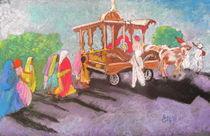 Hindu procession in rural India by Elena Malec