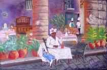 santera in the cathedral square in Havana, Cuba von Elena Malec