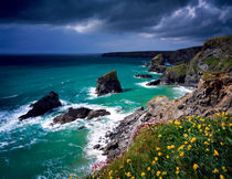 Bedruthan Steps, Cornwall, England. by Craig Joiner