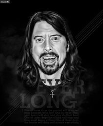 Dave Grohl - Musicians Series by Rafael  C. Costa