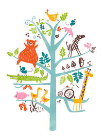 animals in tree by Joanne Liu