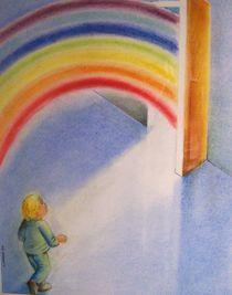 enfant et arc en ciel by NourYas Arts