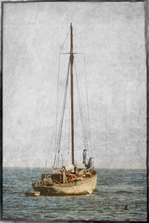 Sailboat anchored, Boats of Newport Beach, California by Eye in Hand Gallery