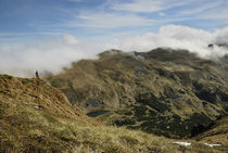 man in a clouds, Carpathian hiking von pasha66