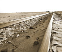 desert railway tracks von james smit