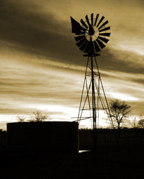silhouette windmill von james smit