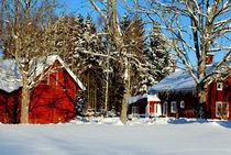 Mein schwedisches Dorf im Winter by tinadefortunata