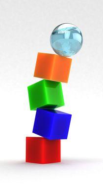falling cubes von ahmad soliman