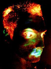 Self Portrait Burning by David Bodenstein