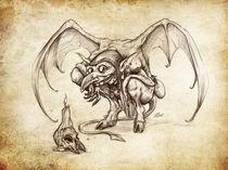 Fantasy Sketch - Imp von Christian Damm