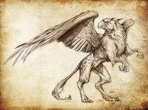 Fantasy Sketch - Gryphon by Christian Damm