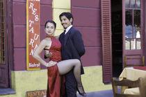 tango dance couple 5 Buenos Aires La boca von Leandro Bistolfi