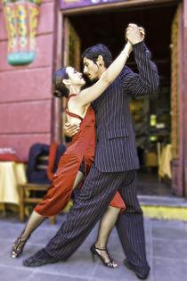 tango dance couple 2 Buenos Aires La boca von Leandro Bistolfi