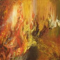 Abstraktes/ Feuer von Ute Hegel
