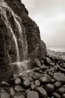 Waterfall on Cornborough Cliff, Devon by Craig Joiner