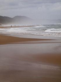 Beach landscape of meandering shoreline von Yolande  van Niekerk