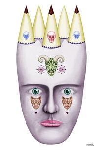 Skulls von Lou Patrou
