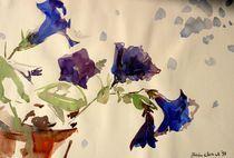 Blaue Petunien von Beate Steinebach