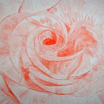 Rote Rose by A 3400 Acrylbilder Günther Roth