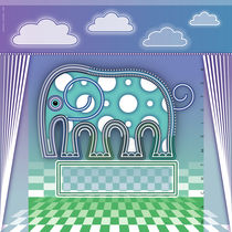 Circus Elephant von Bernd Wachtmeister
