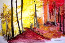 'Herbstwald' by Eleonore Rottler