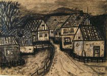 Dorfansicht im Erzgebirge von Michael Thomas Sachs