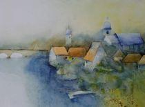 Landschaft am Fluss by Stefanie Ihlefeldt