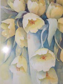 Tulpen in einer Vase, gelb von Stefanie Ihlefeldt