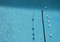 Lane Rope and Shadows in a Pool by Robert Englebright